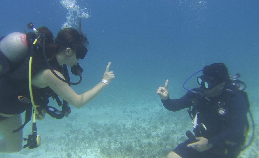 Underwater Communication                                         – Scuba Divers Language –